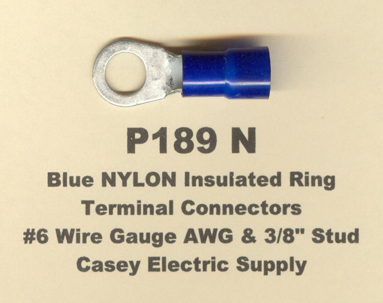 10 blue nylon insulated ring terminal connectors 6 wire gauge 38 resntentobalflowflowcomponenttechnicalissues greentooth Images