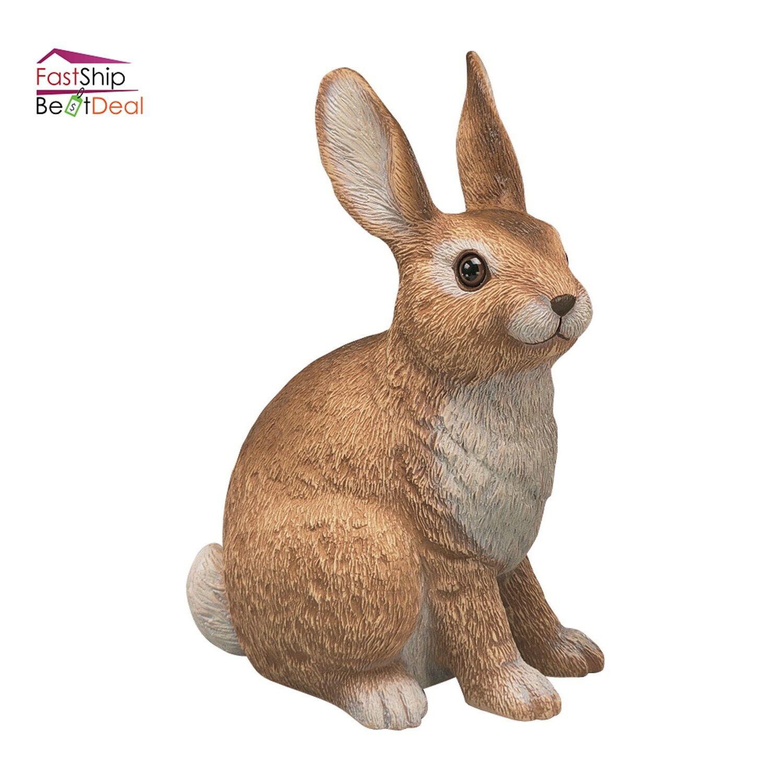 Rabbit Sculpture Statue Outdoor Bunny Garden Decor Patio Yard Art ...