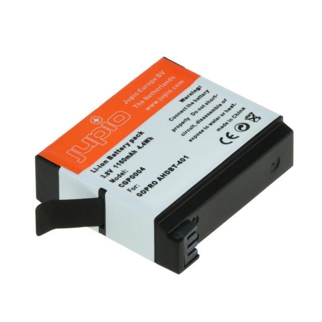 Jupio GoPro AHDBT-401 Lithium-Ion Li-Ion Battery 3.8v 1160mAh UK Stock