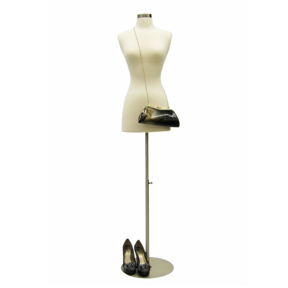 Female Mannequin Dress Form Metal Round Base Size 2-4 #JF-FWPW-4 ...