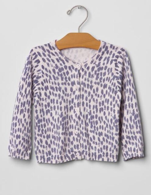 Gap Baby / Toddler Girl Size 18-24 Months Purple Leopard Cardigan ...