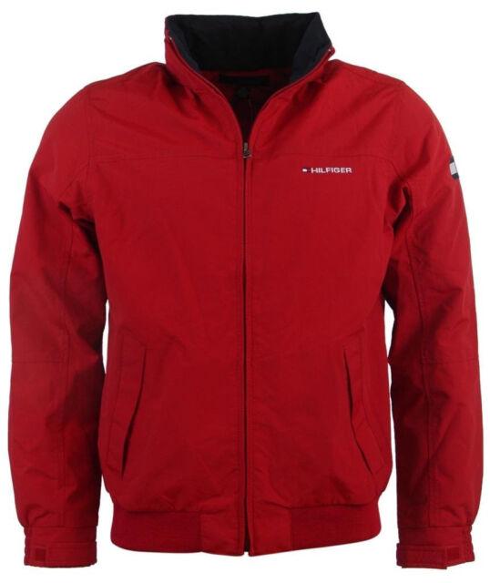 Tommy Hilfiger Men S Jacket Xl Xlarge Red Front Pockets
