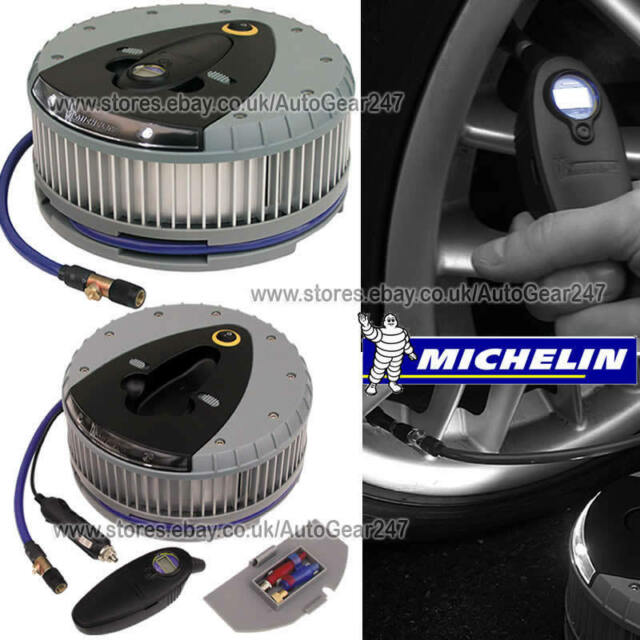 Michelin Car Motor Bike Van Hi Power Tyre Inflator With Detachable Digital Gauge