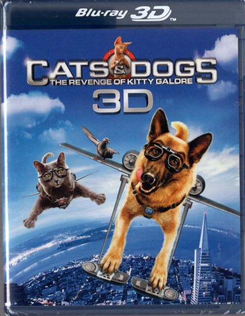 Cats & Dogs: The Revenge of Kitty Galore (Blu-ray Disc, 2010, 2-Disc Set, 3D)