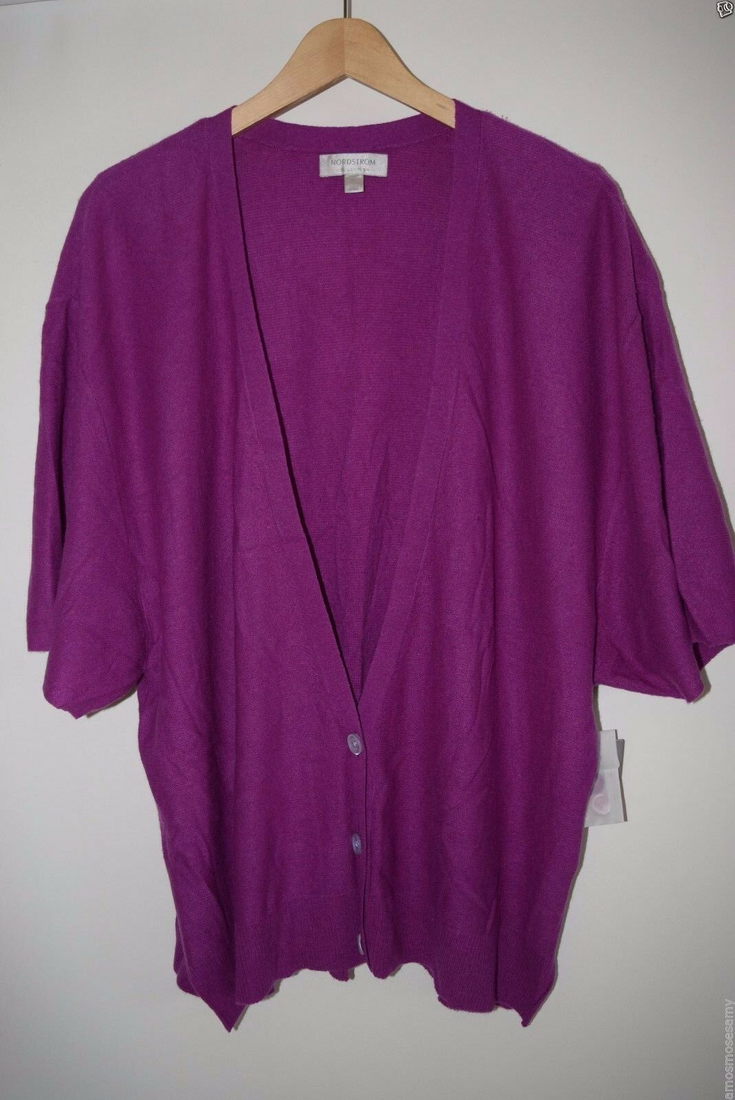Nordstrom Collection Womens Magenta Cashmere Poncho Cardigan ...