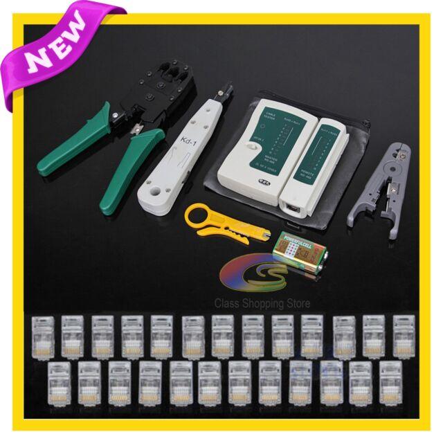 Lan Network Cable Tester Crimper Punch Down Tool Stripper Kit CAT5 CAT6 RJ45 OZ