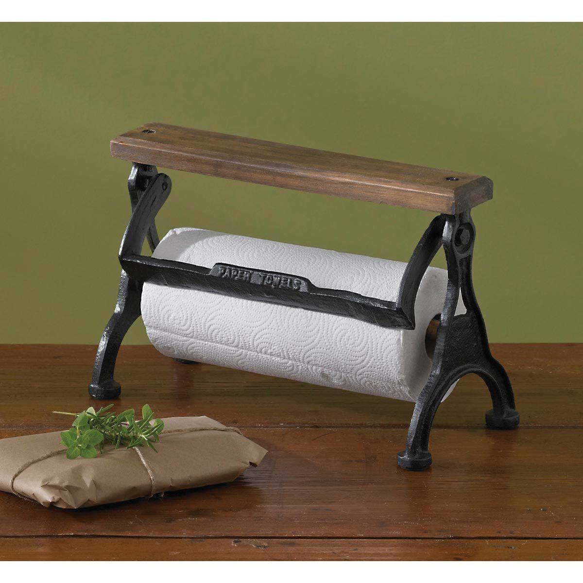 paper towel holder. Picture 1 of Park Designs Vintage Style Counter Top Paper Towel Holder Wood