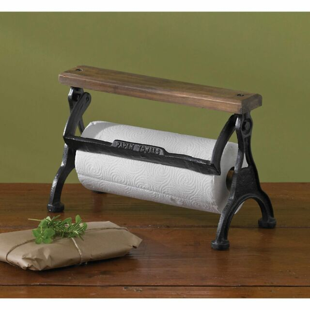 Park Designs Vintage Style Counter Top Paper Towel Holder Wood Cast Iron  Country | EBay