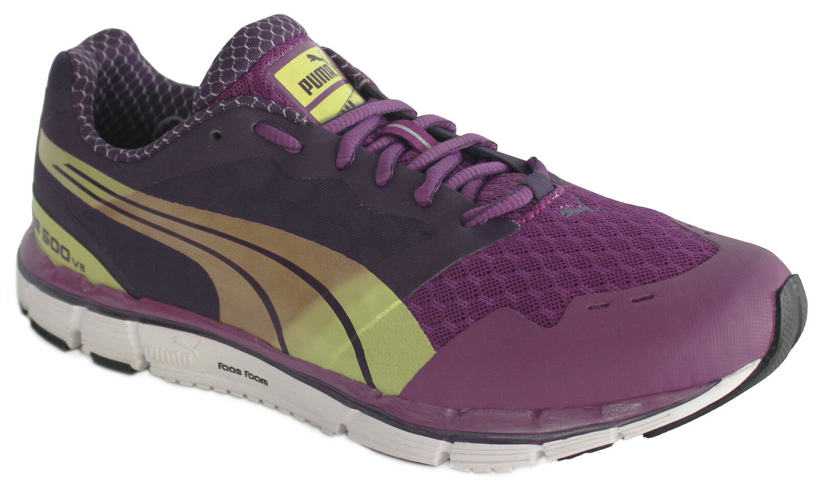 Puma Faas 500 V2 Womens Girls Mesh Lace Up Running Shoes 186489 09 D49