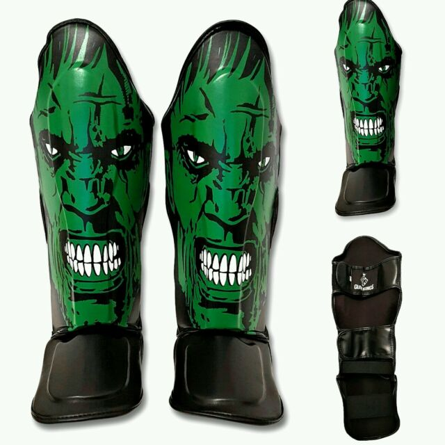 GK Leather Shin guards HULK Pad MMA ADULTS Muay Thai KickBoxing UFC twins sandee