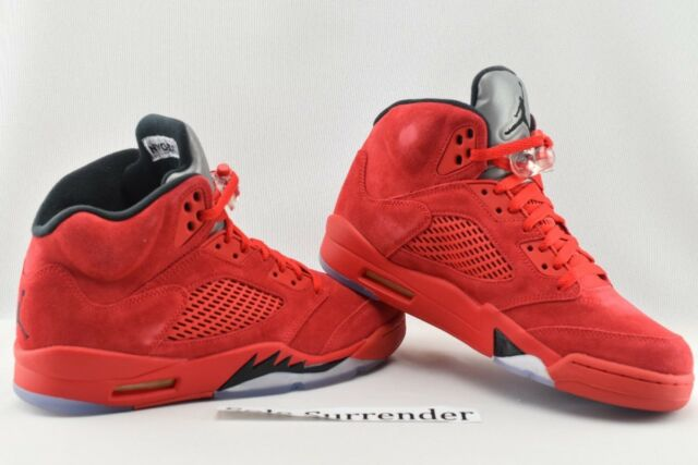 separation shoes d96ae 62481 ... hot air jordan 5 retro size 9.5 136027 602 university red black suede v  . 91932