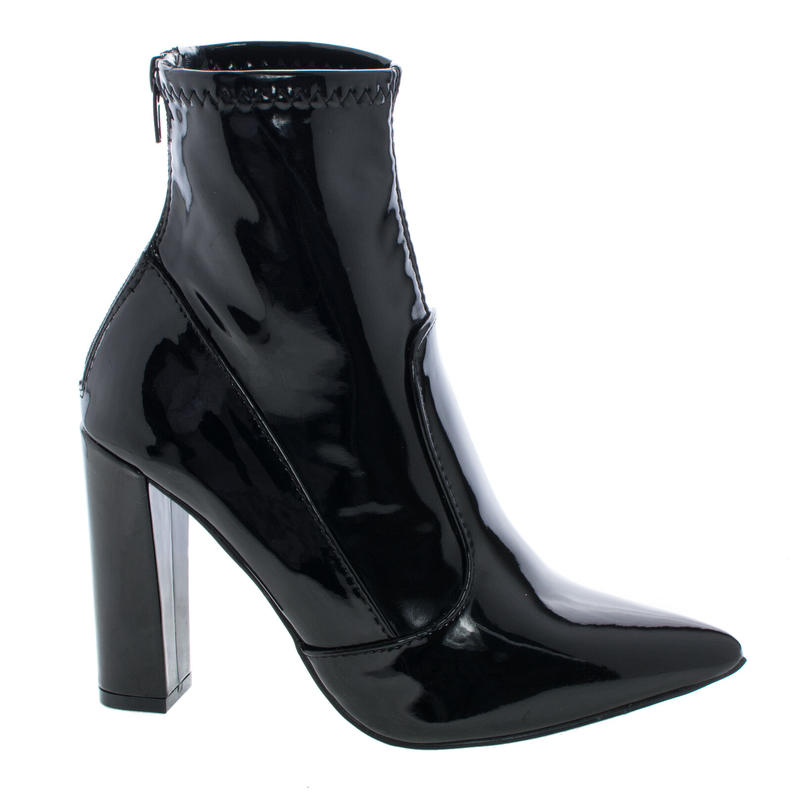 Fetish Ankle Booties On Block High Heel Dress Boots