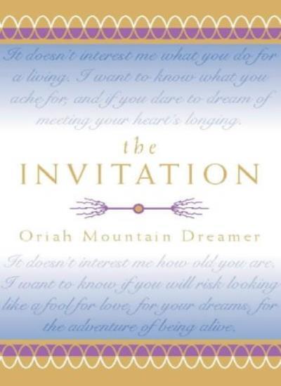 The Invitation,Oriah Mountain Dreamer- 9780722538210