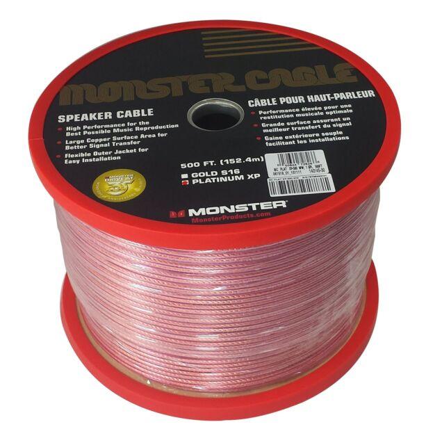 Monster Cable XP Platinum 16 Gauge Speaker Wire - 500 FT Spool   eBay