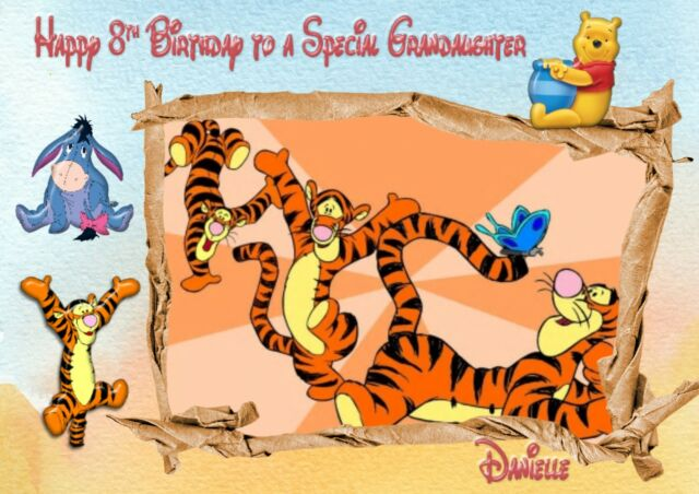 Personalised Birthday Card Tigger Eeyore Winnie The Pooh A Ebay