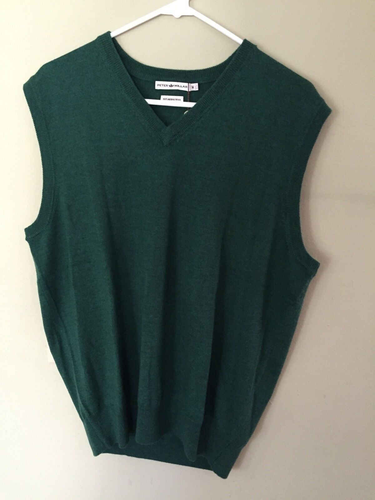 Peter Millar 100 Merino Wool V-neck Sweater Vest Medium Sky Blue ...