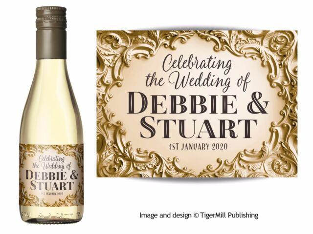 Personalised Mini Wine or Mini Champagne Bottle Labels Wedding ...
