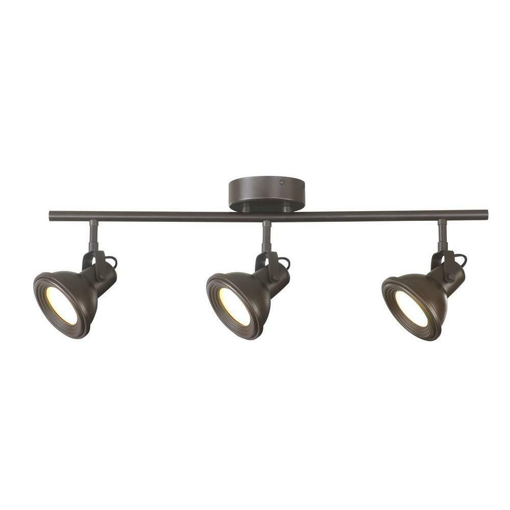 Hampton Bay Dc4019abz 3 Light Led Hammered Shade Directional Track Lighting Be The First To Write A Review About This Picture 1 Of