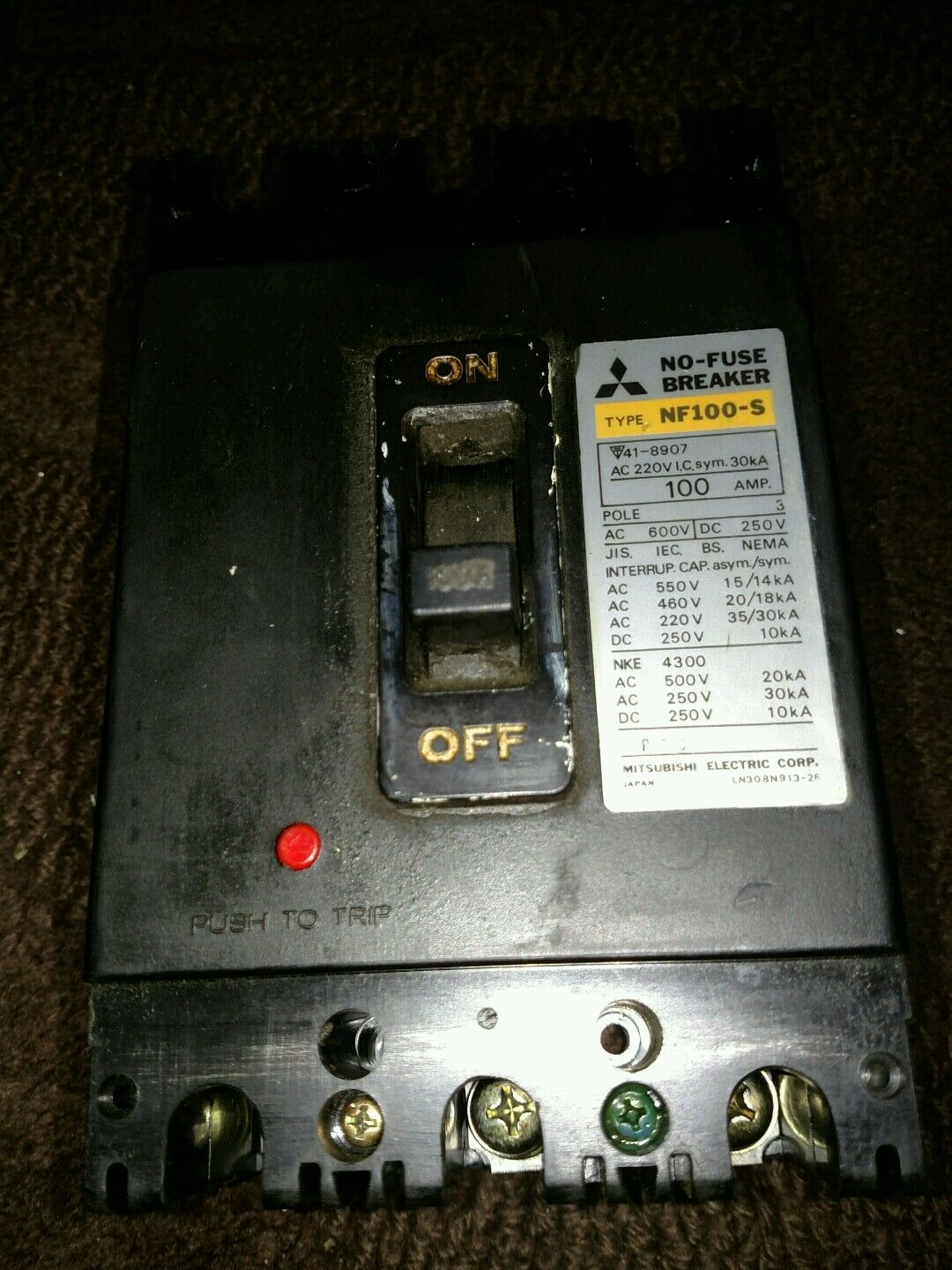 s l1600 mitsubishi electric nf100 s circuit breaker 40 amp 3 pole nos ebay 2007 Mitsubishi Outlander Fuse Box at creativeand.co
