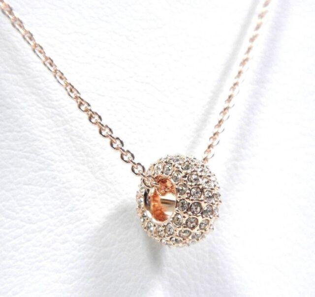 Swarovski stone round pendant pink rose gold plating 5383957 ebay stone round pendant silk pink rose gold plating 2018 swarovski jewelry 5383957 audiocablefo