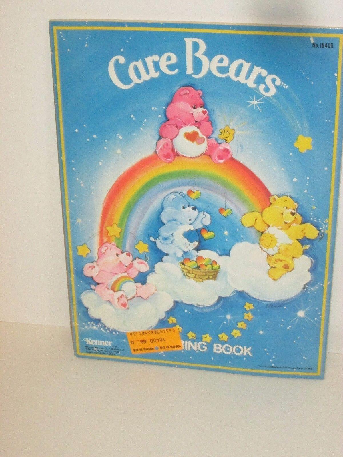 Vintage Care Bears Coloring Book Kenner American Greetings 1982 Ebay