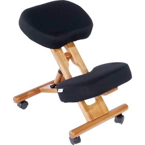 jobri f1450 bk classic kneeling chair with wood frame ebay