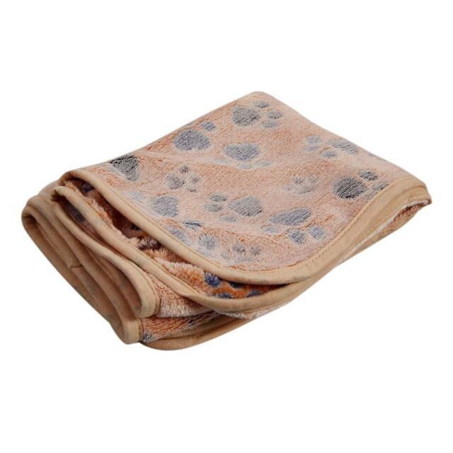 Pet Dog Bed Puppy Cushion House Soft Warm Kennel Mat Blanket Brown 60 x 40cm AC