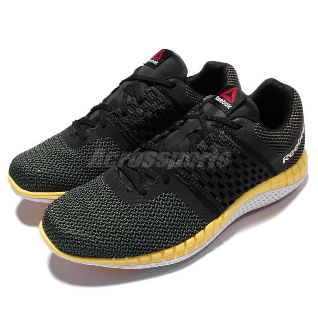 Reebok Zprint Run Black Gravel Yellow Mens Running Shoes V72328