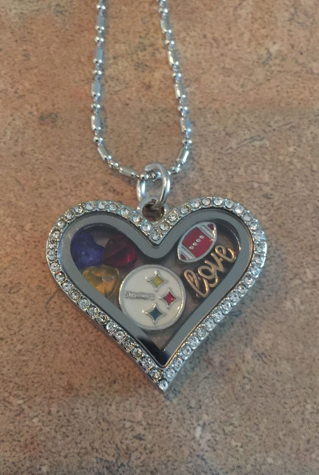 Pittsburgh steelers inspired love charm fits origami owl style picture 1 of 2 jeuxipadfo Choice Image