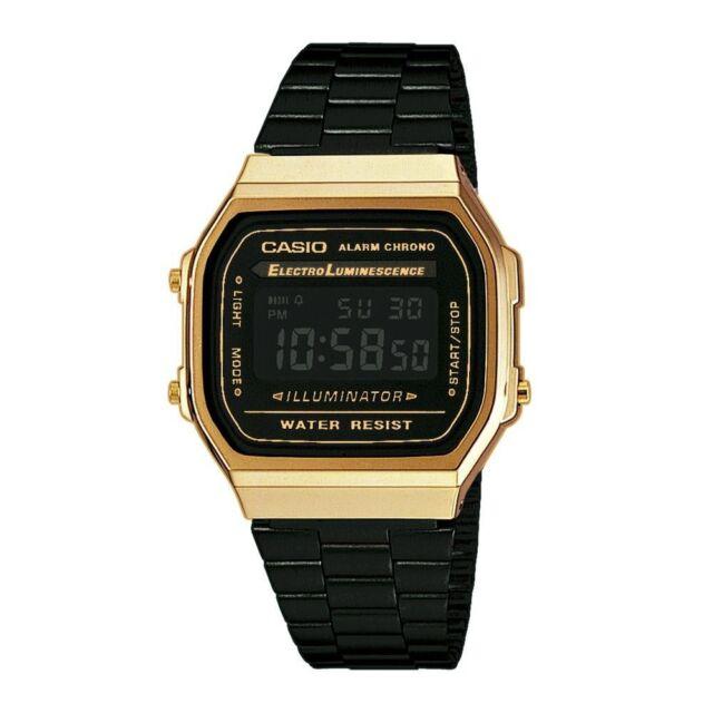 CASIO *VINTAGE BLACK & GOLD* A168WEGB-1Bef A168WEGB-1B   CERTIFICADO + GARANTÍA