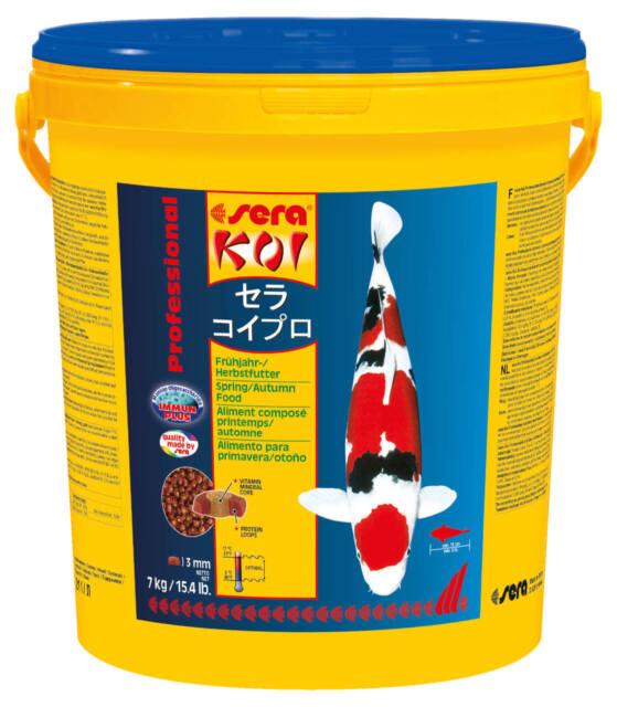 Sera Koi Professional Frühjahr- Herbstfutter 7 kg / 21 L  Koifutter Teichfutter