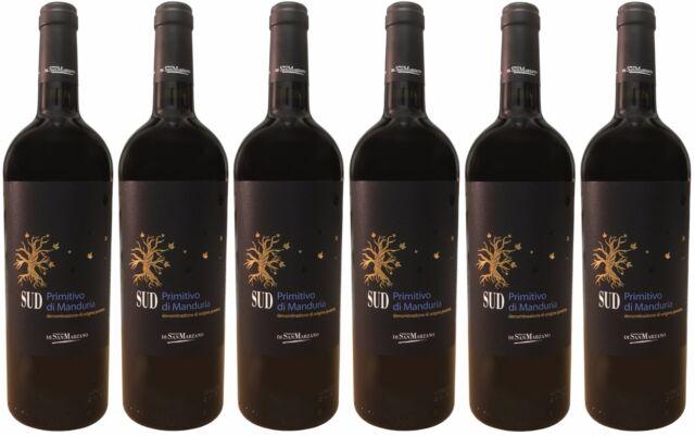 (14,20€/L) SUD Primitivo di Manduria DOC di San Marzano (6 x 0,75l) - 14 %Vol.