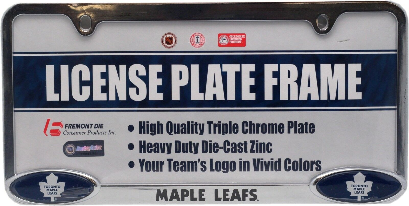 Toronto Maple Leafs Triple Chrome License Plate Frame 11345 | eBay
