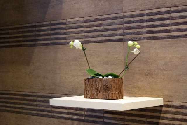 M2 Vat Porcelain Tile Brown Wood Effect 60x60 Wall Floor Kitchen