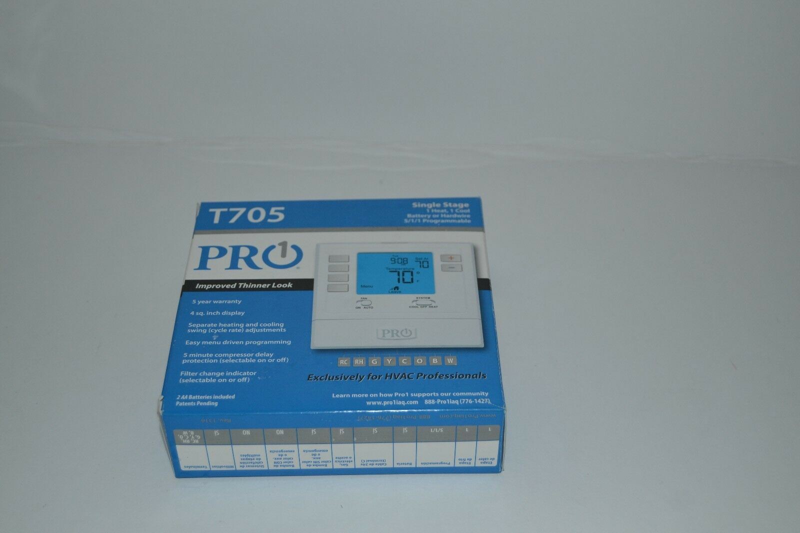 Pro Thermostat T705 - Thermostat Manual