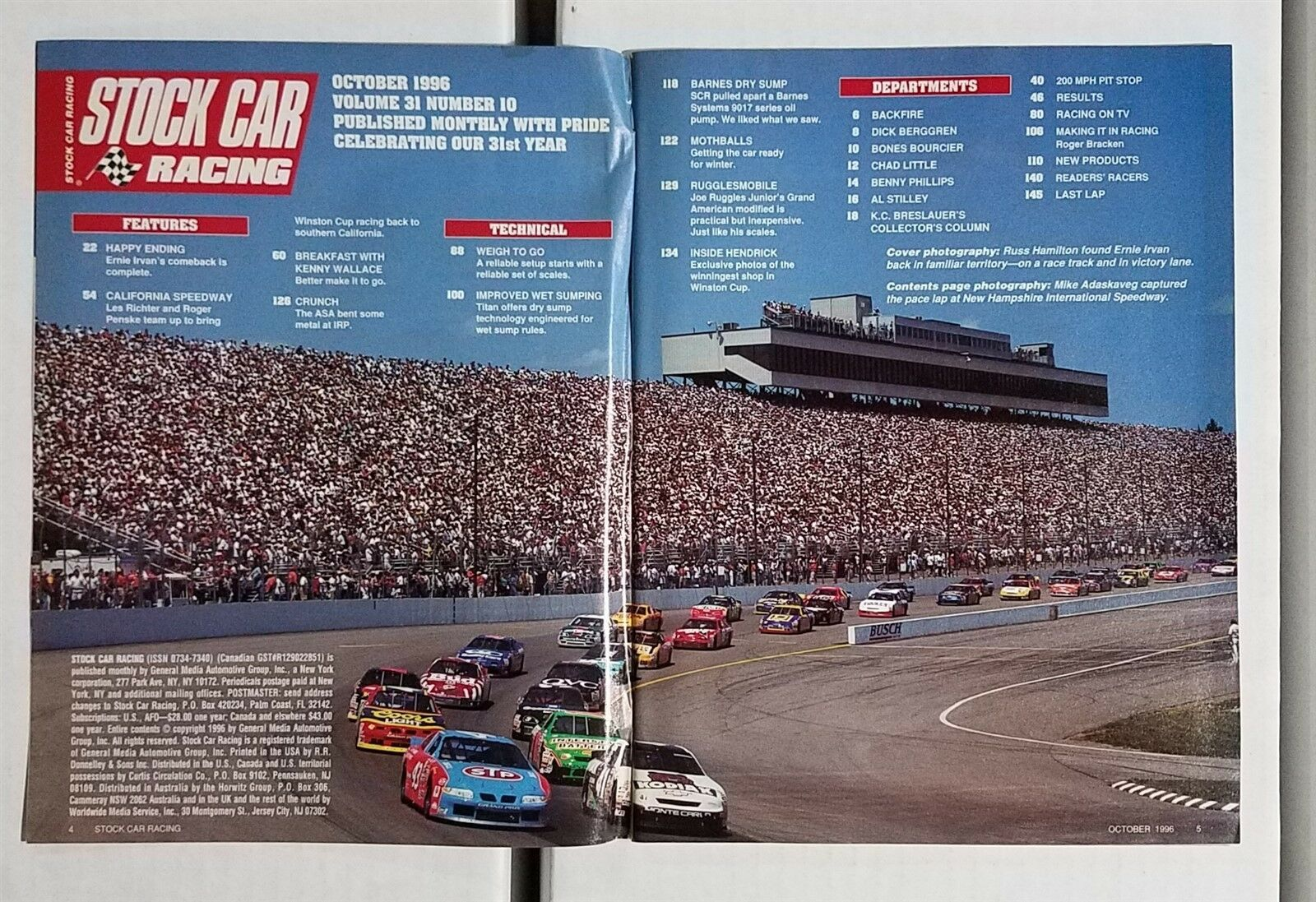Stock Car Racing October 1993 Davey Allison Tribute Billy Moyers ...