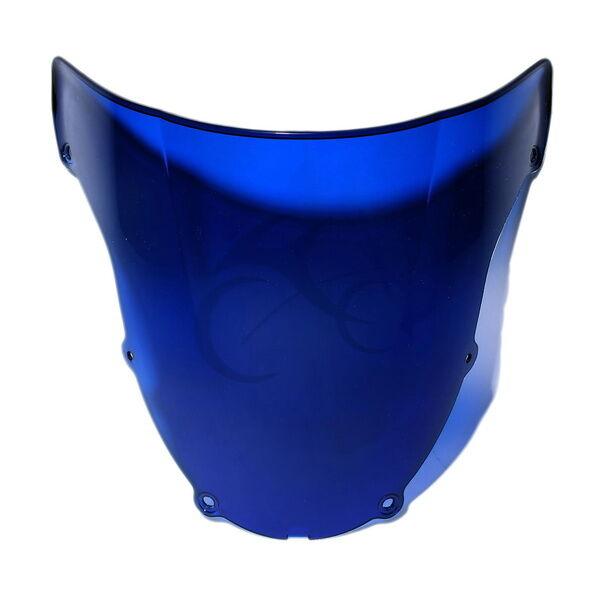 Blue Windshield Windscreen For Kawasaki Ninja ZX6R ZX6-R ZX 6R 636 2003-2004