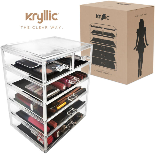 Acrylic Organizer Set of 6 Large Drawers for Makeup Jewelry Office