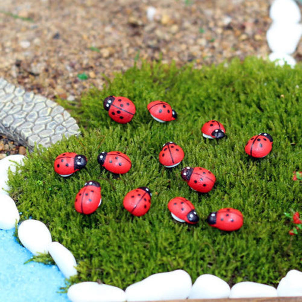 Miniature Ladybird Red Beetle Ladybug Dollhouse Fairy Garden Decor ...