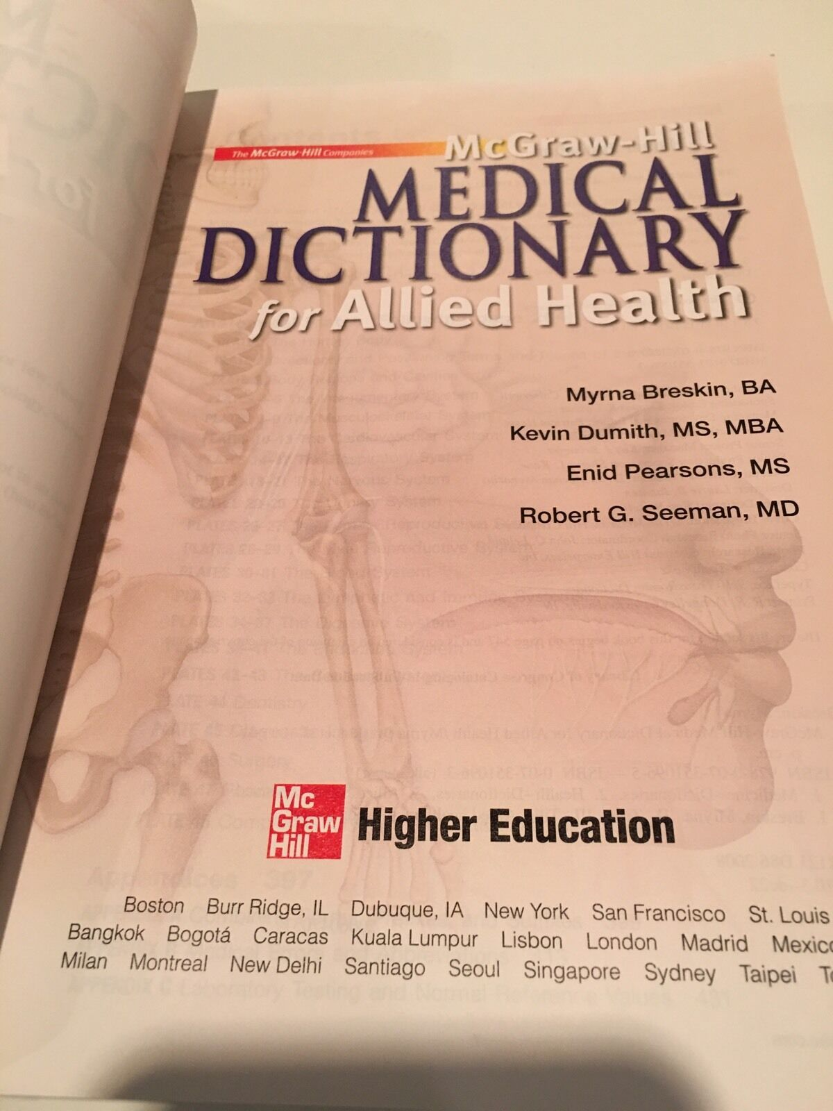 Mcgraw-hill Medical Dictionary for Allied Health | eBay