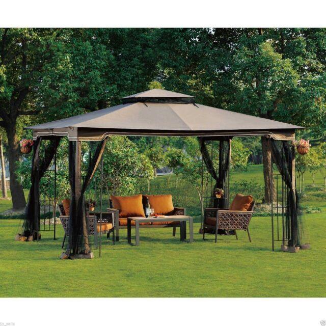 Incroyable Outdoor Gazebo With Netting Canopy Backyard Pergola 10 X 12 Garden Patio  Wedding