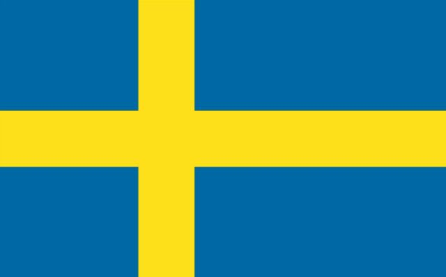 3x5 inch sweden flag sticker decal swedish saab fun proud stockholm car window