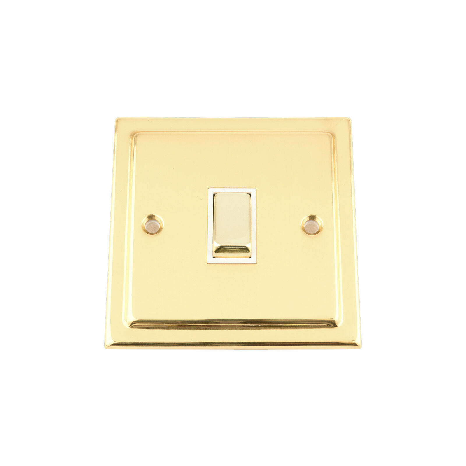 Light Switch Triple 3 Gang Victorian Polished Brass White Insert 2 Way Metal Rocker 10 Amp Unique Christmas Gifts