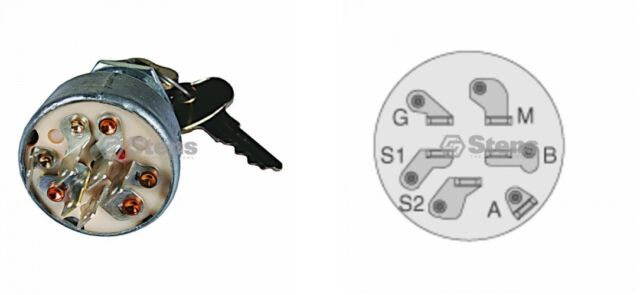 John Deere Sx75 Wiring Diagram : For john deere indak key ignition switch