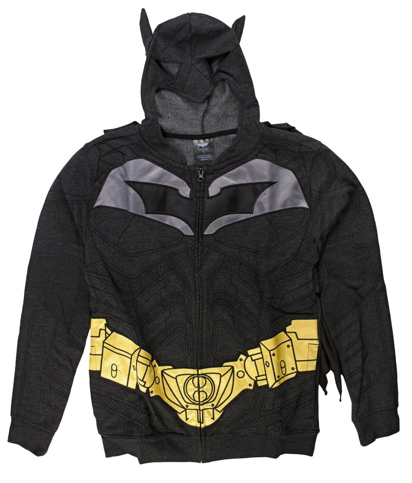 the dark knight rises batman costume fleece zip up hoodie sweatshirt