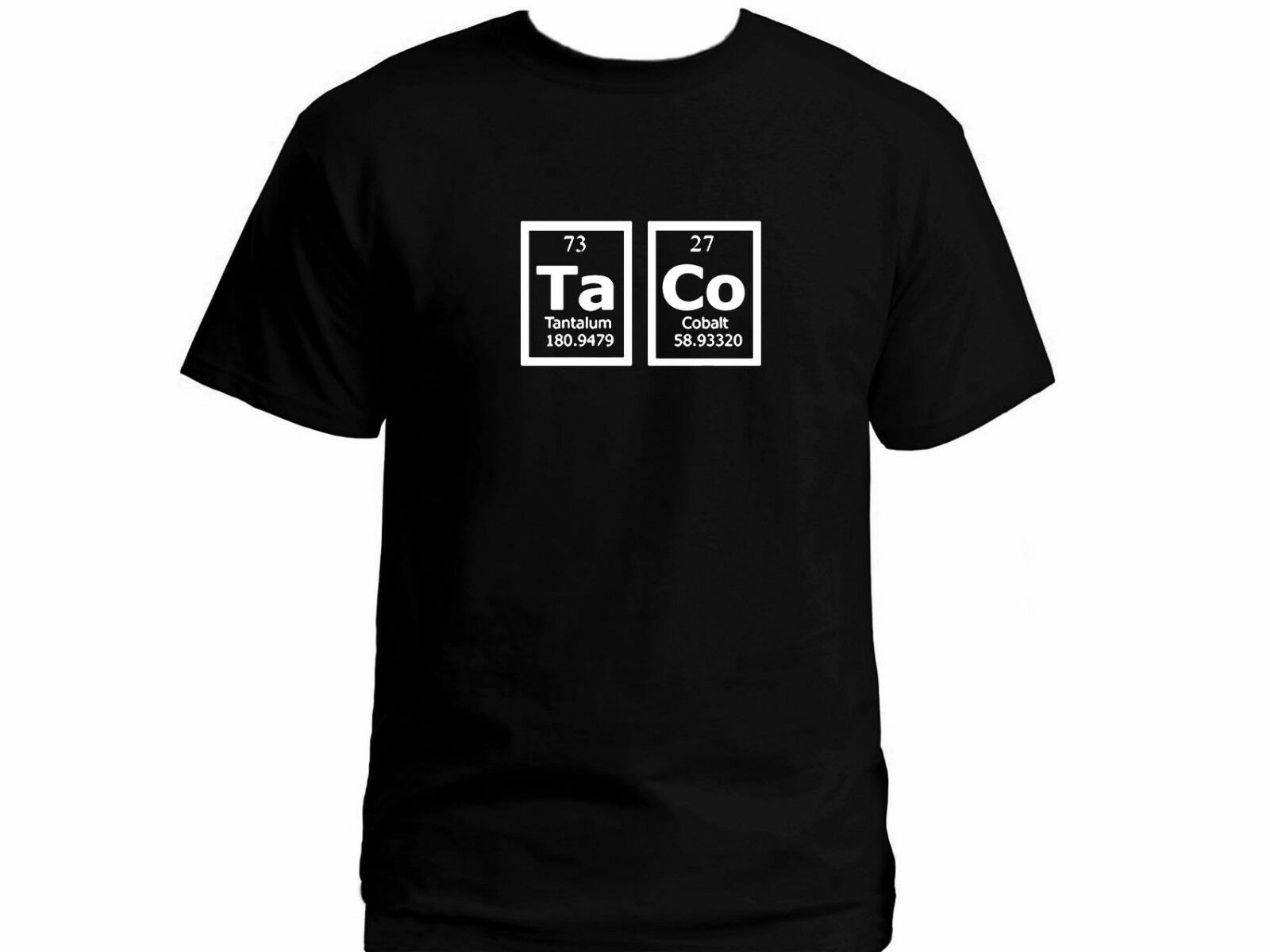 Taco Mendeleev Periodic Table Of Elements Geeks Gifts Black Tee