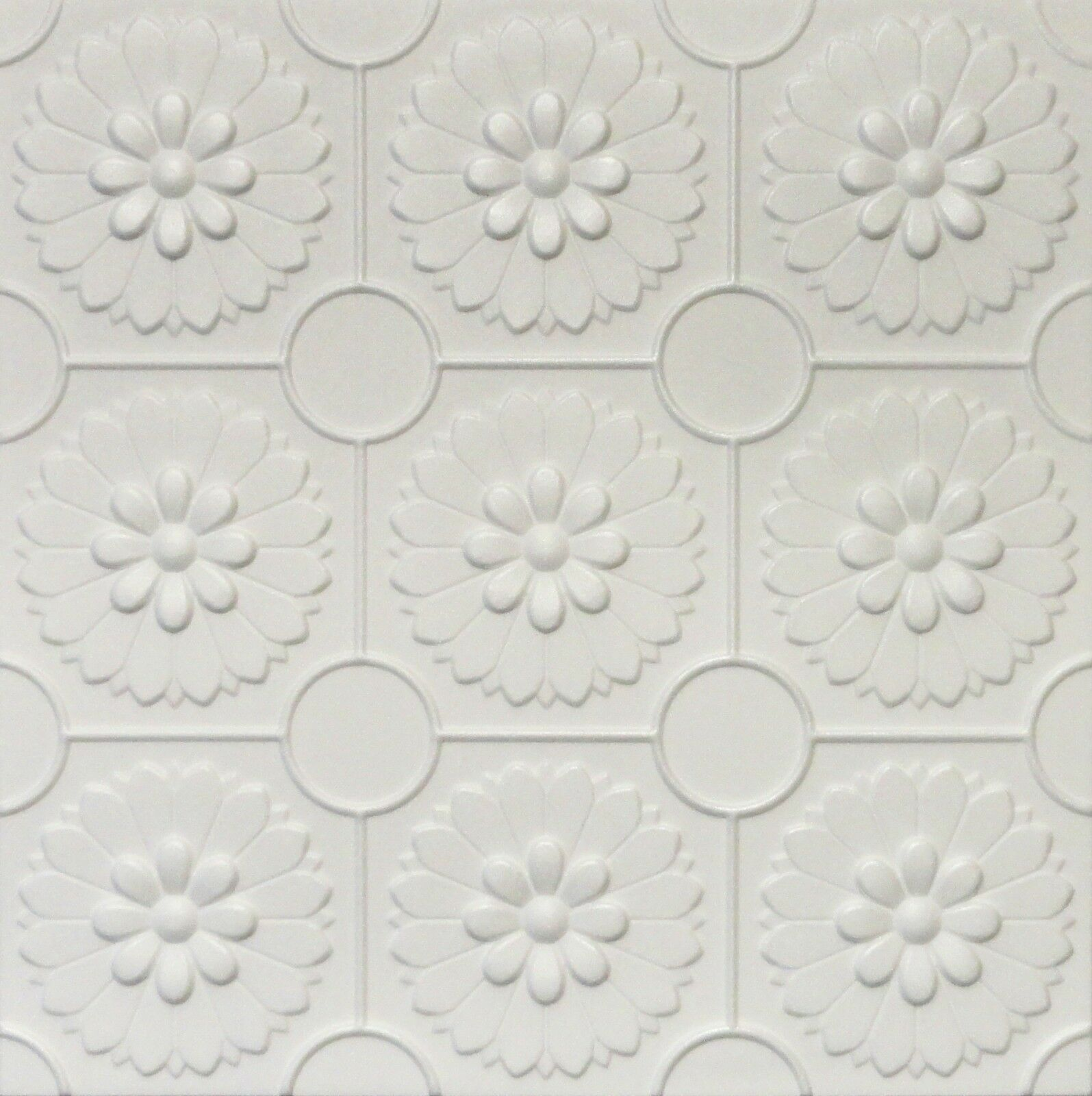 Diy Glue Up White Decorative Ceiling Tiles R36w Ultra Pure White