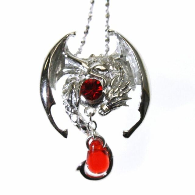 Fafnir sterling silver 925 red crystal dragon pendant necklace anne fafnir sterling silver 925 red crystal dragon pendant necklace anne stokes aloadofball Image collections