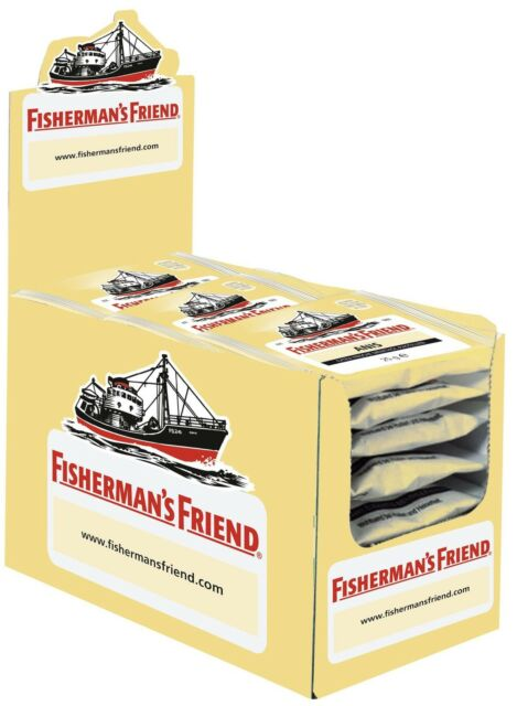 (1000g=29,98€) Fishermans Friend Anis - 24 Beutel - Menthol Pastillen