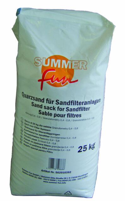 Summer fun Quarzsand für Sandfilteranlagen 25 kg Sack TOP NEU